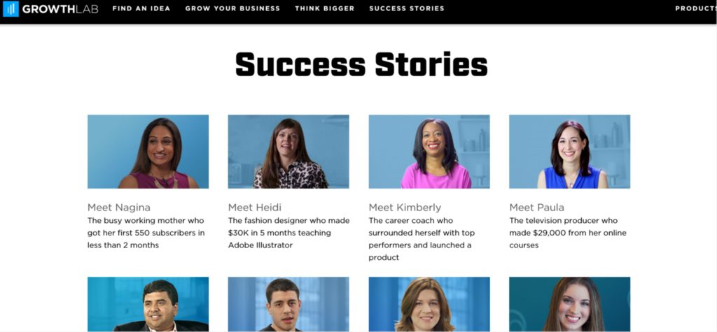 Social proof storytelling example
