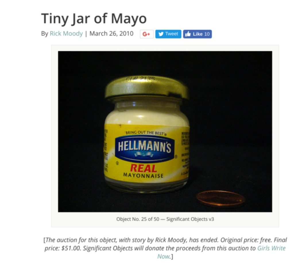 Significant Objects Tiny Jar of Mayo